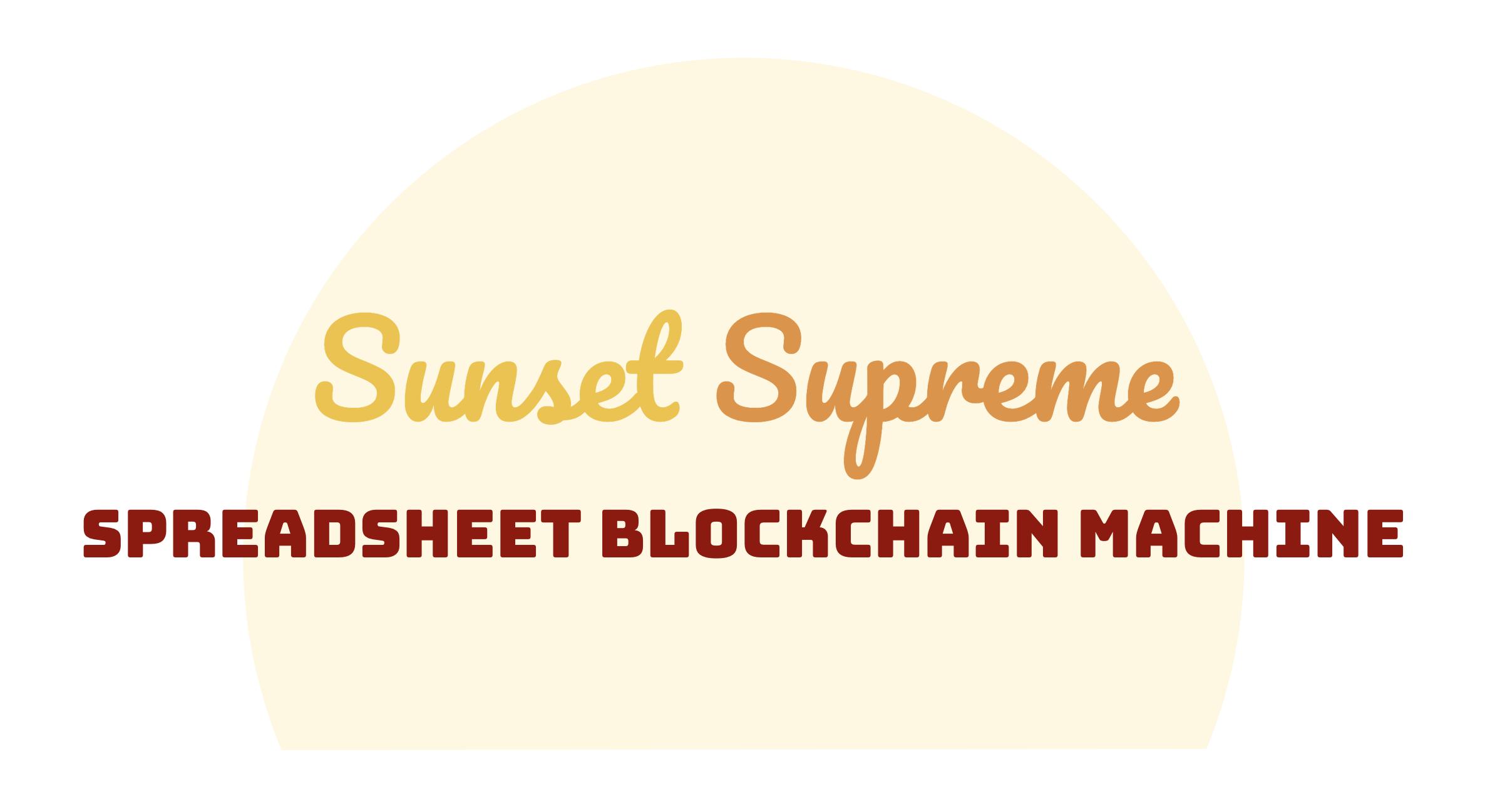 Sunset Supreme showcase