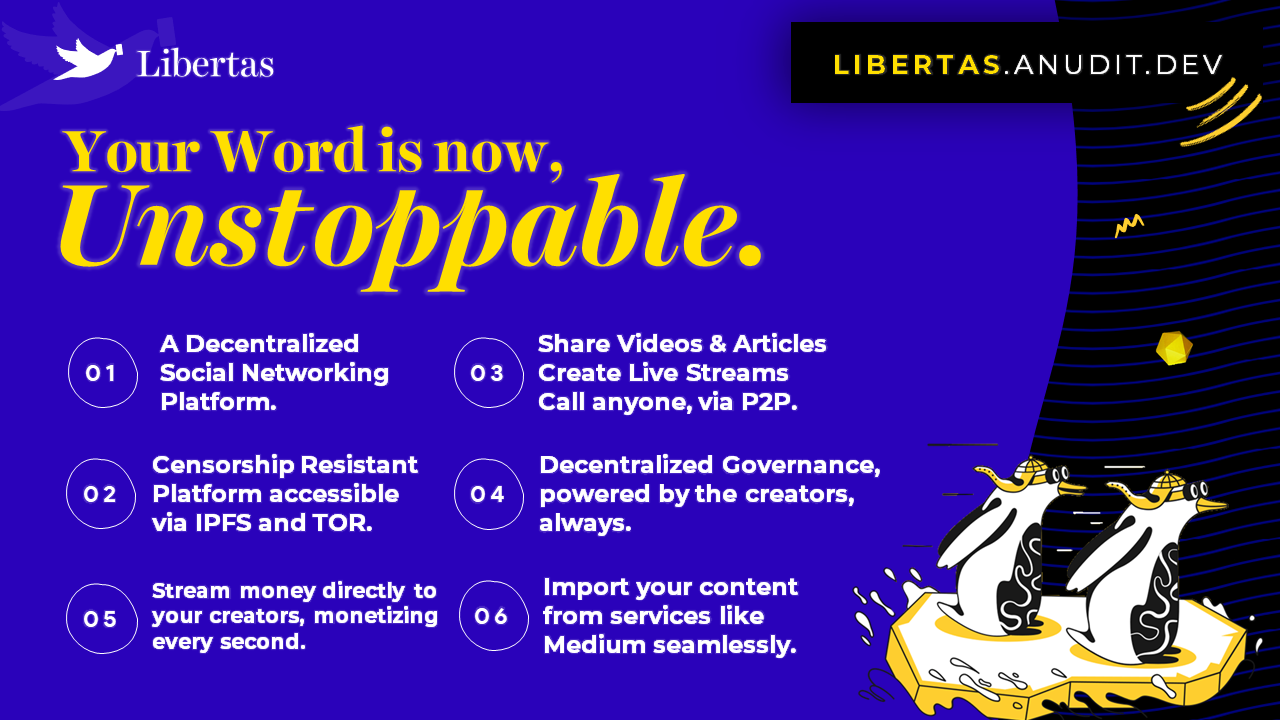 Libertas — Your Word is now, Unstoppable. showcase