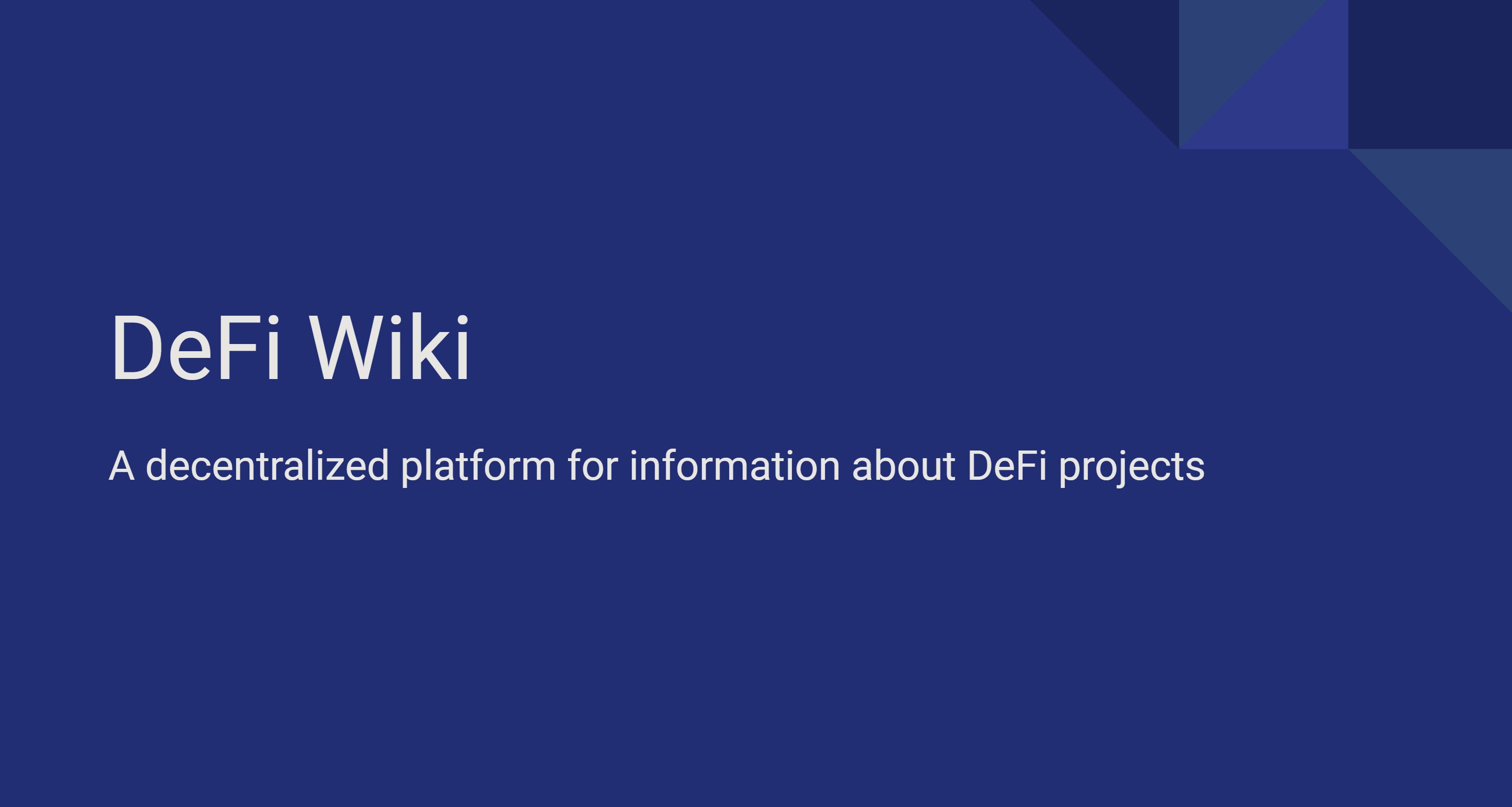 DeFiWiki showcase