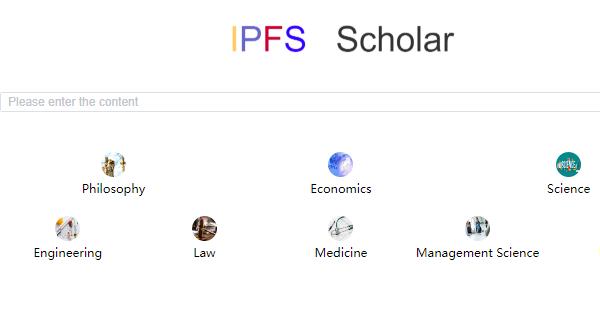 IPFS-scholar showcase