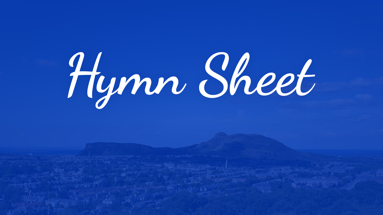 Hymn sheet showcase