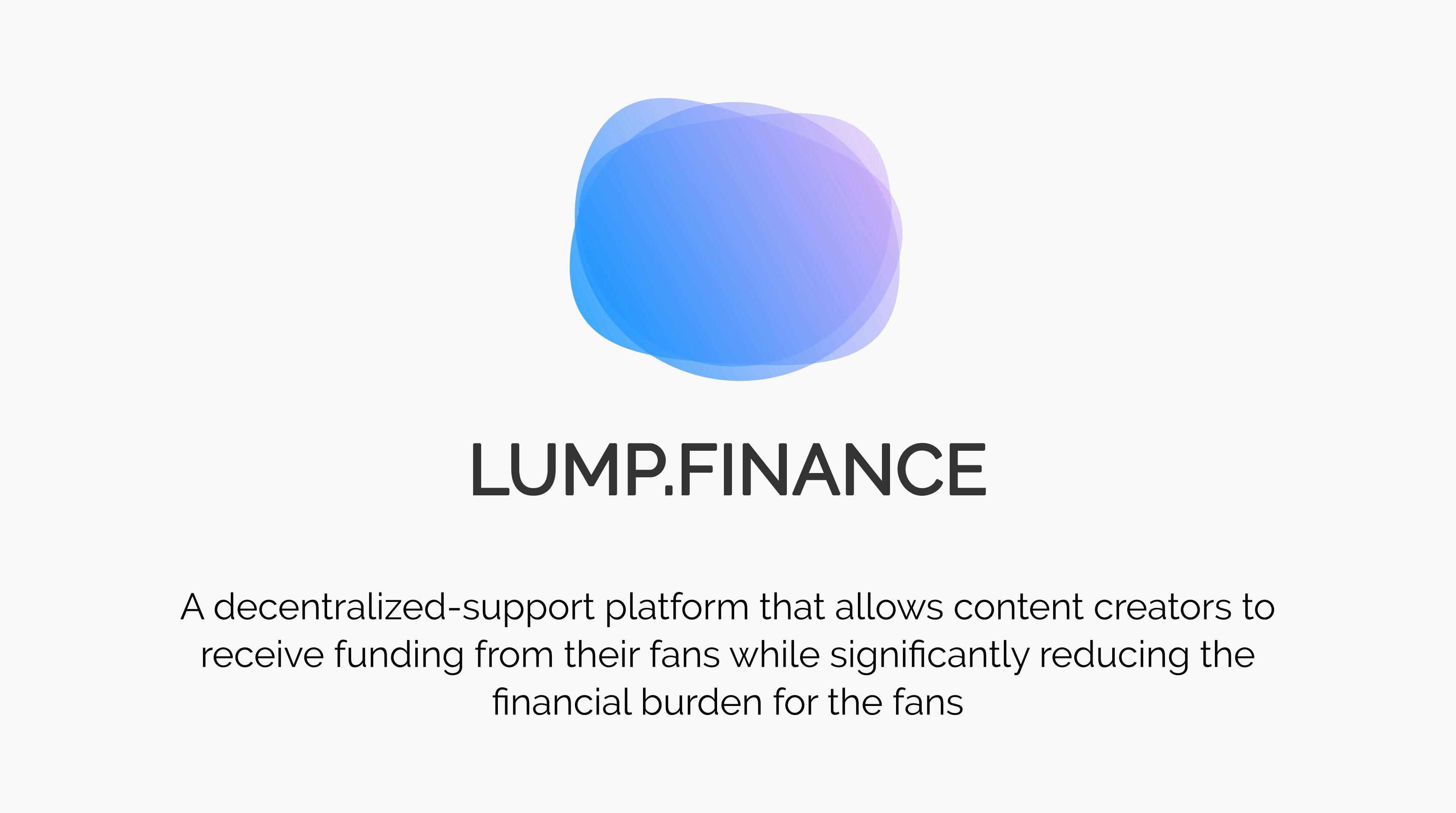 Lump.Finance showcase