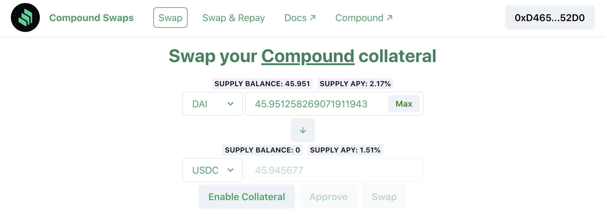 Compound Swaps showcase