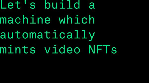 Livestream NFT Minting showcase