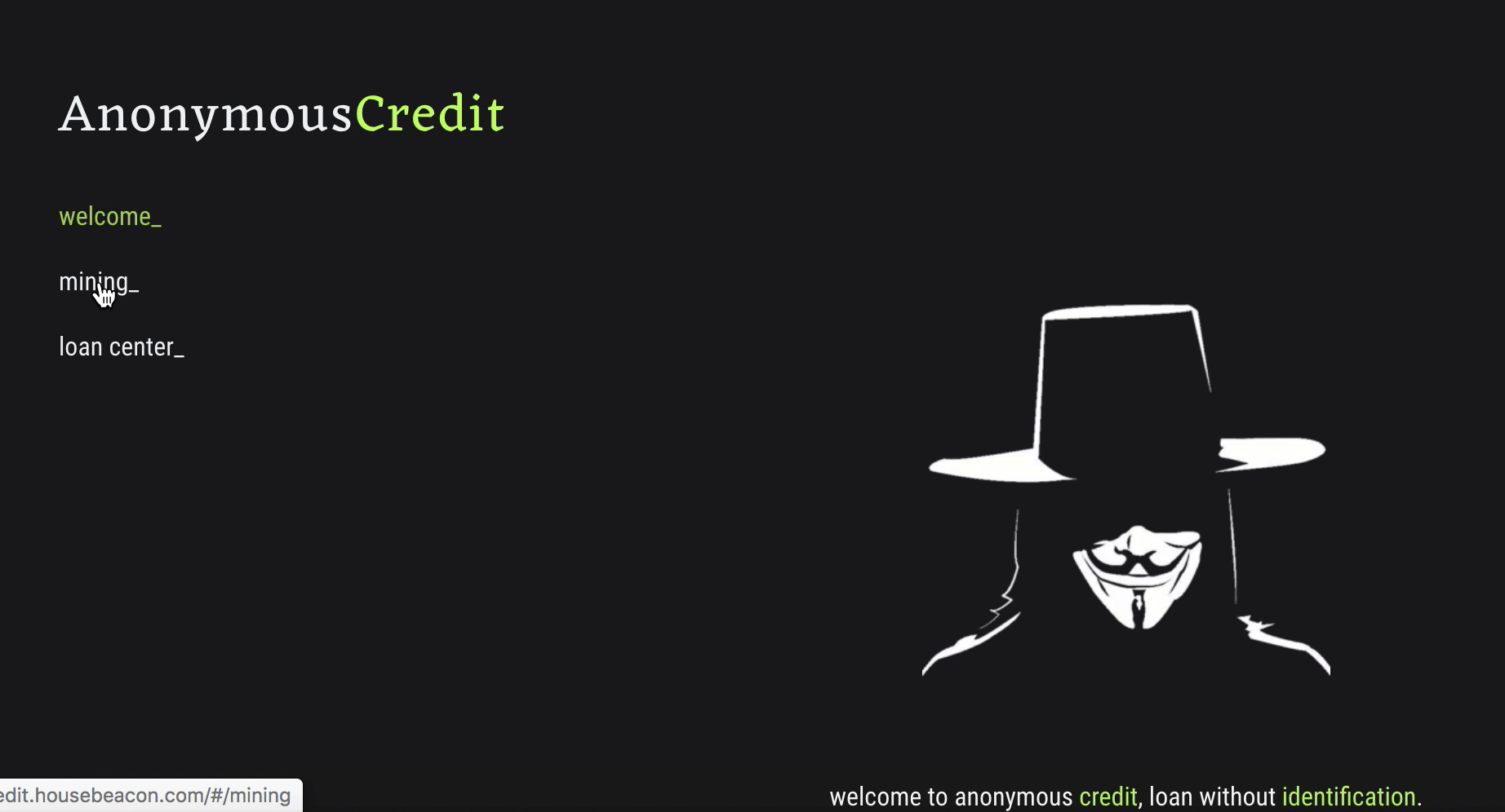 Anonymous Credit showcase