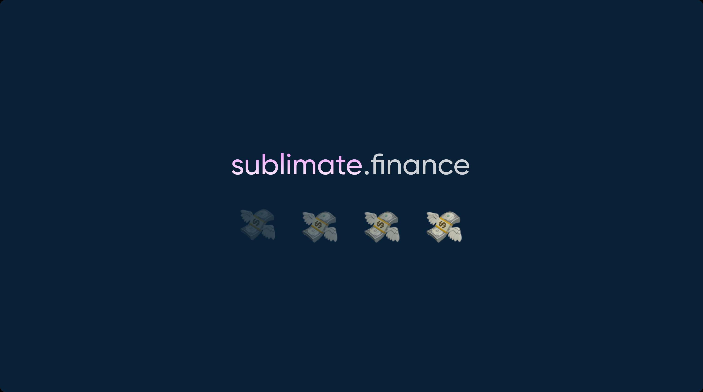 Sublimate.Finance – Streamable Tokens showcase