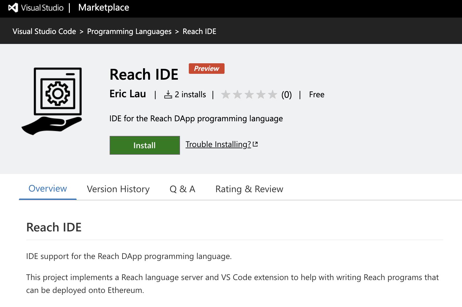 Reach IDE showcase