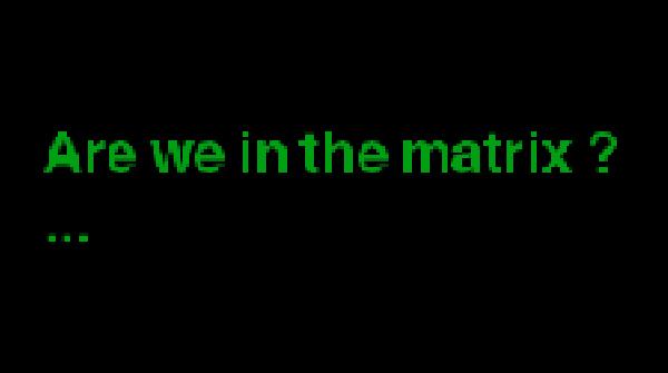 Are we in the matrix ?  showcase