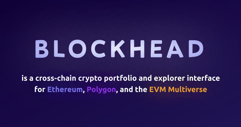 Blockhead - Crypto Portfolio and Explorer showcase