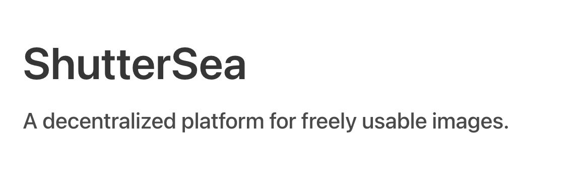 ShutterSea showcase