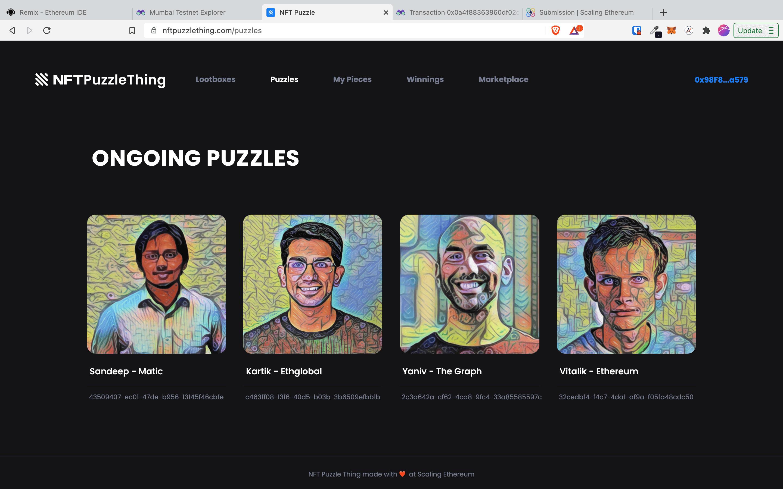 NFT Puzzle Thing showcase