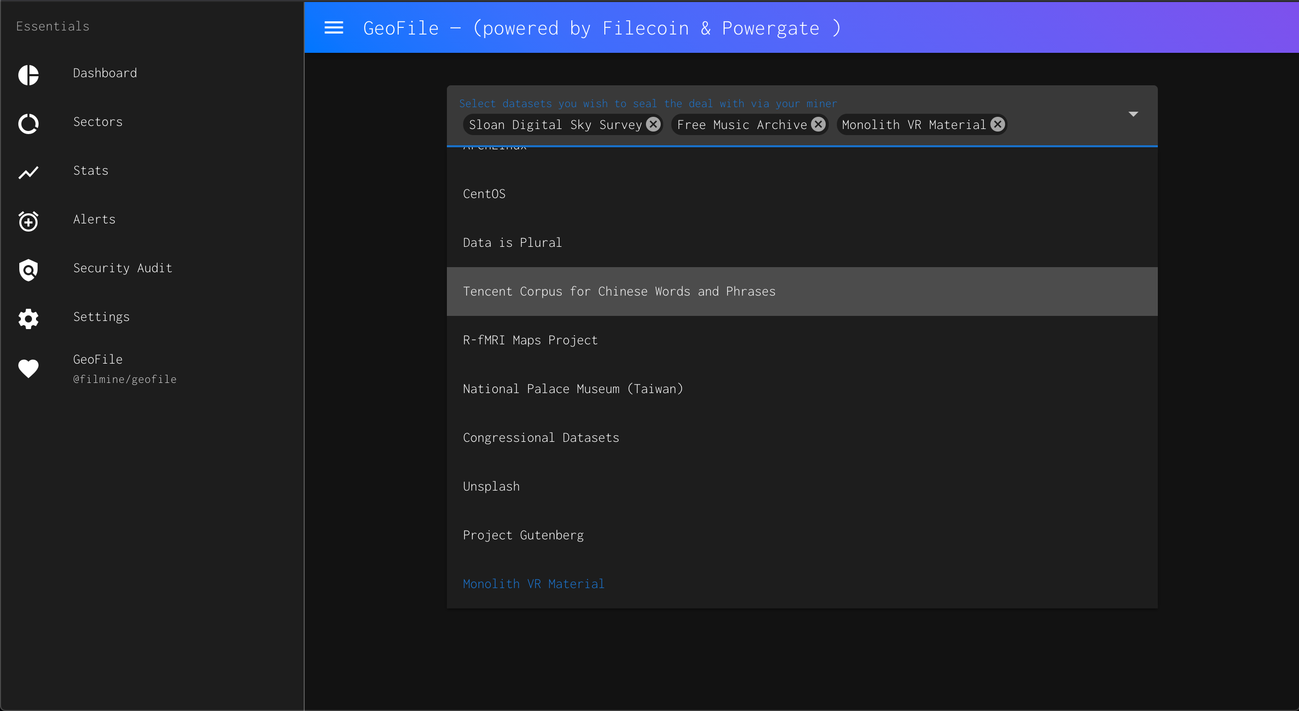 Geofile — Hyper-localization storage  showcase