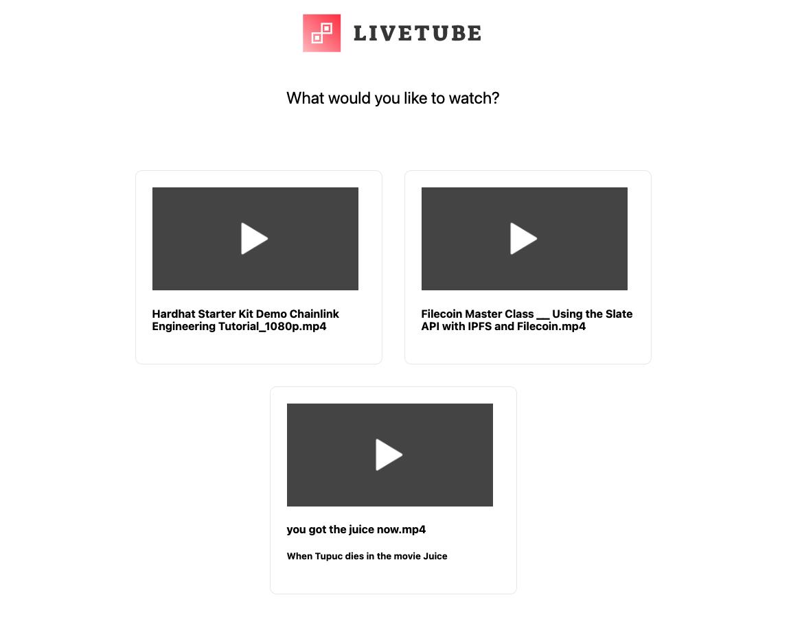 liveTube showcase