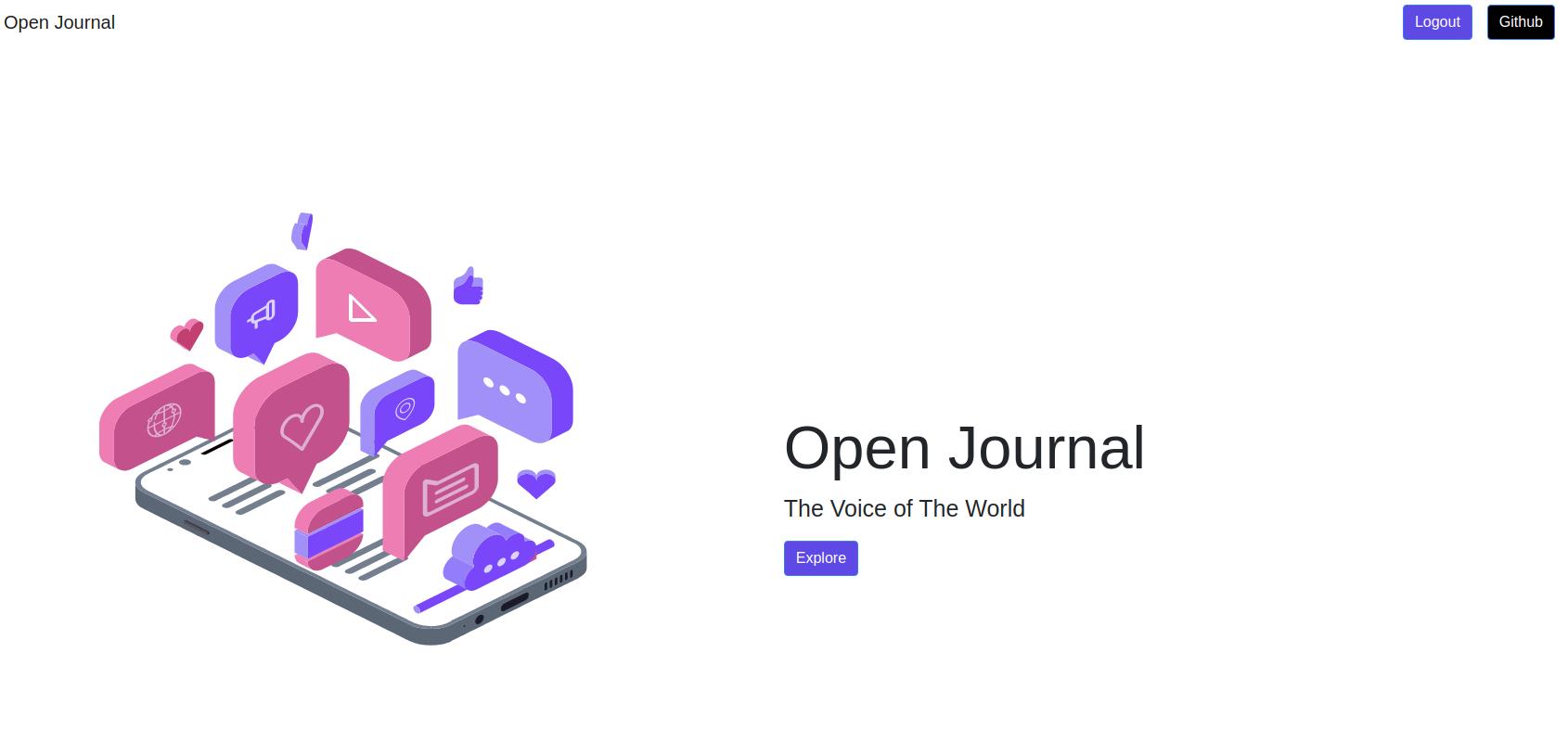 The Open Journal showcase