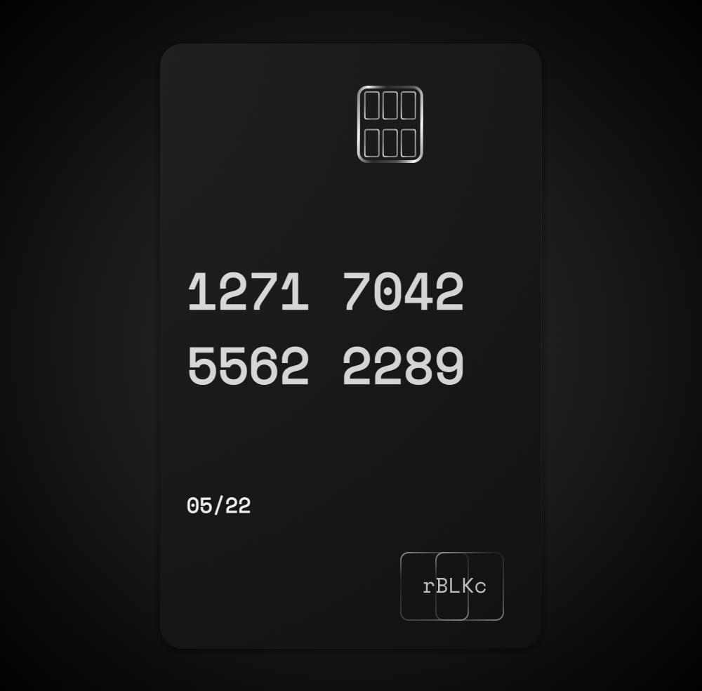 rBLKc (Random Black Card)