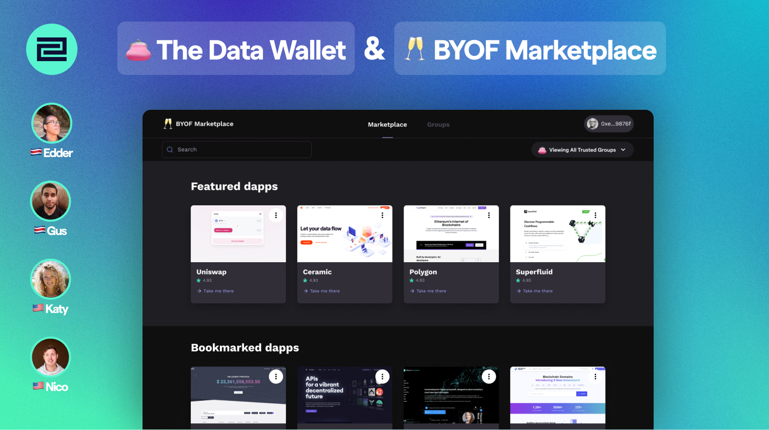 2C | 👛 The Data Wallet & 🥂 BYOF Marketplace showcase