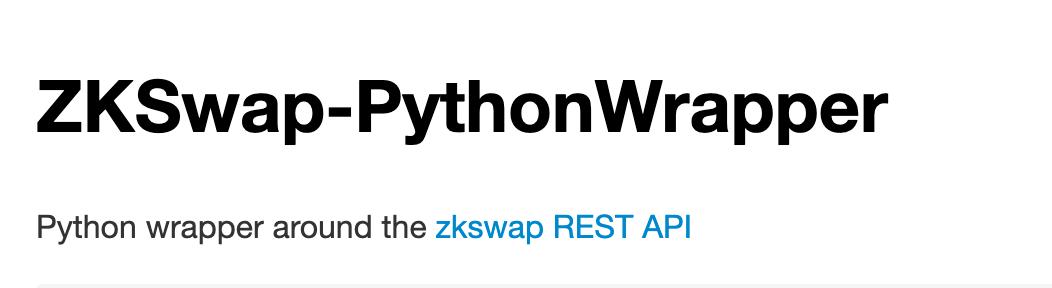 ZKSwap Things showcase