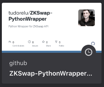 ZKSwap Things