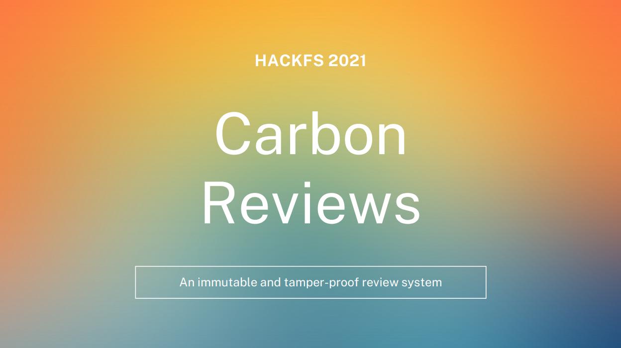 CarbonReviews showcase