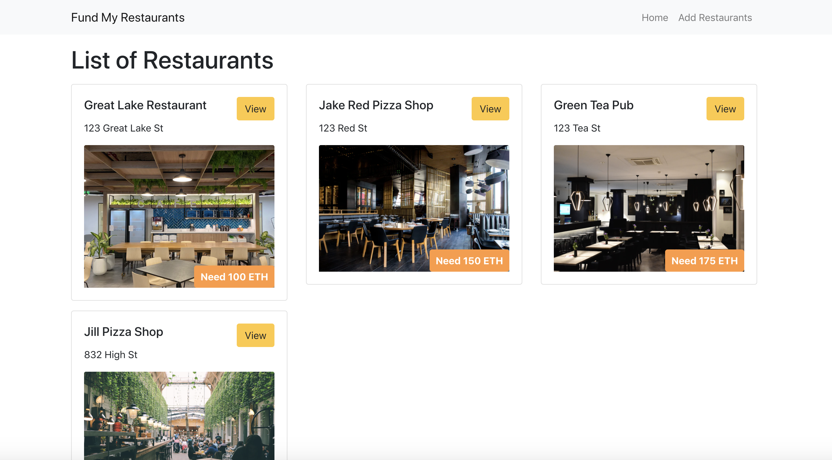 Fund The Restaurants showcase