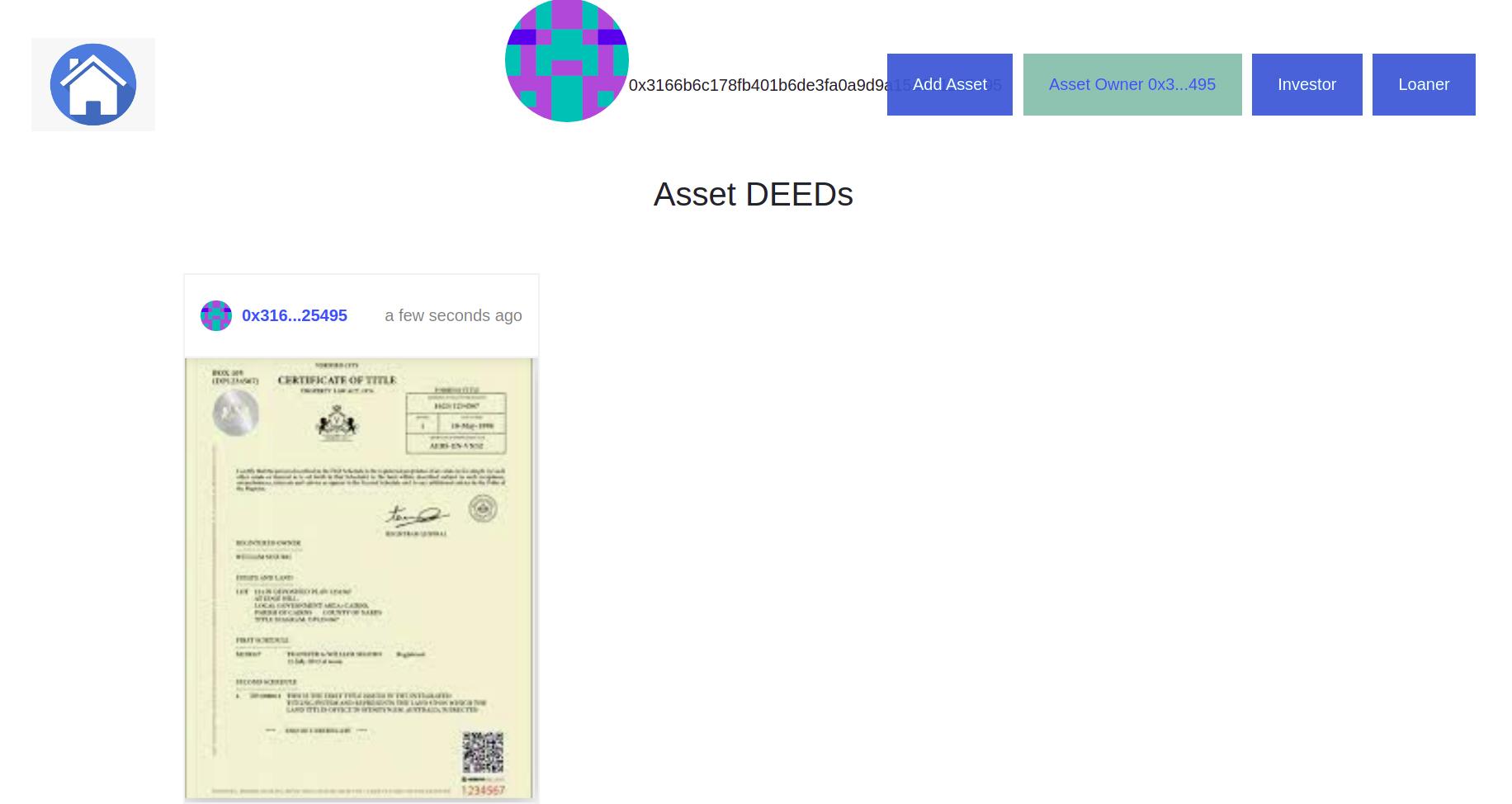 CDO Tokenization Asset NFT showcase