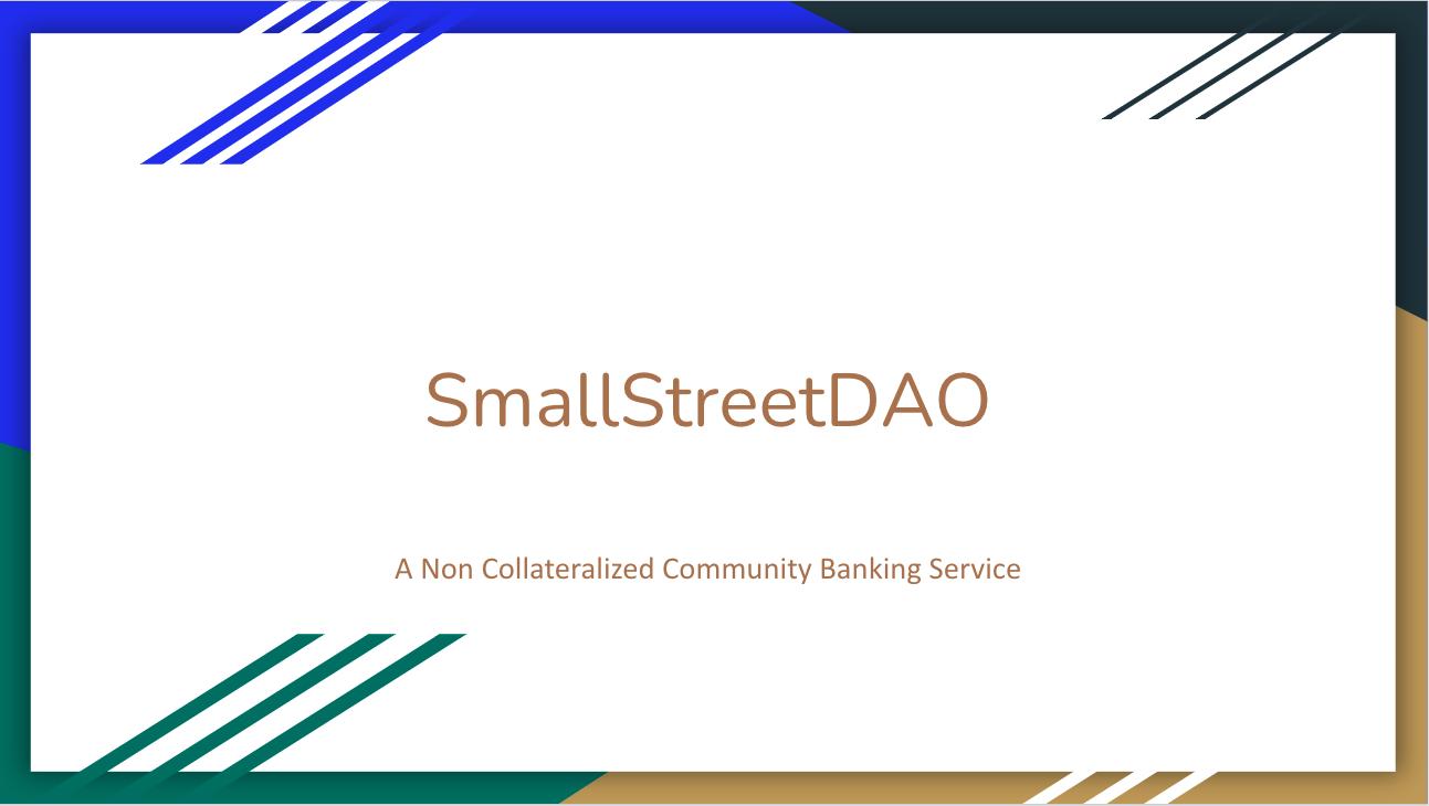 SmallStreetDAO showcase